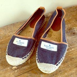 Kate Spade Blue Denim Espadrilles Size 5